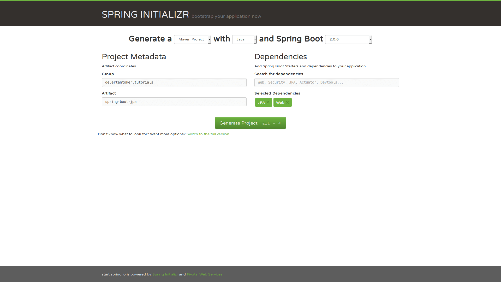 Spring Boot JPA Project